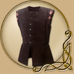Costume - Brown Sleeveless Leather Jerkin